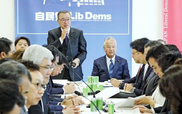 自民党の税調会合(党本部、2019年12月4日)