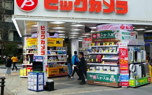 ビックカメラは台湾など訪日客向けの販売で苦戦する。