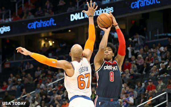 NBA1年目の八村は十分な活躍を見せてきた(3月10日のニックス戦)=USA TODAY