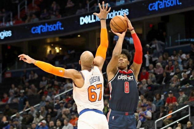 NBA1年目の八村は十分な活躍を見せてきた(3月10日のニックス戦)=USA TODAY Sports