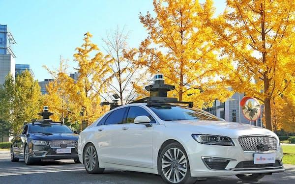 百度の自動運転システムを搭載した米フォード・モーターの車両