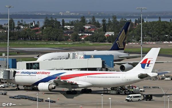 新型コロナウイルスの感染拡大でマレーシア航空の経営は一段と悪化している=ロイター