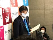 名古屋市の河村市長は緊急事態宣言の対象地域に愛知県を加えるよう政府に求める意向を示した(7日、同市)
