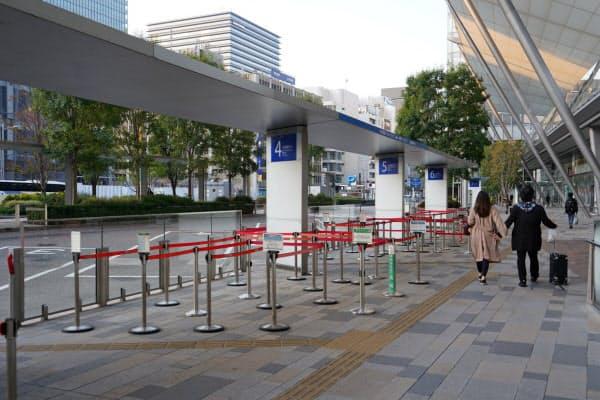 東京駅八重洲口のバスターミナル