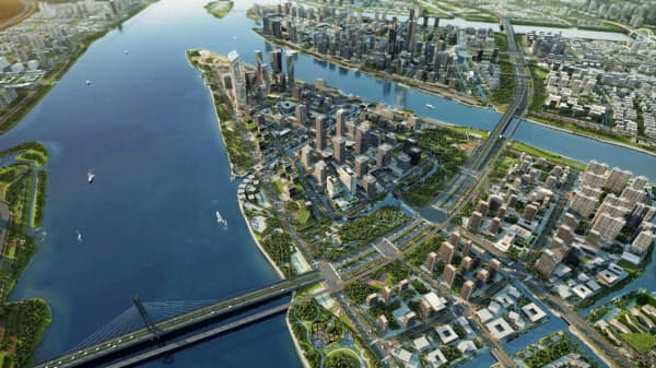 3Dで再現された都市(ディープミラー提供)