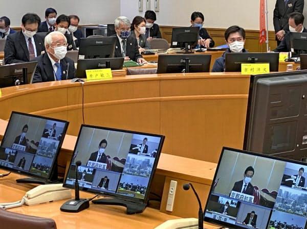 関西広域連合が新型コロナウイルス感染症対策本部会議を開いた(神戸市)