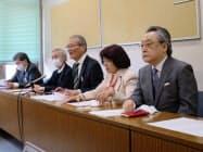 カジノの是非を決める横浜市民の会が記者会見を開いた(8日、横浜市)