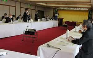 地域のホテル・旅館が感染症対策の知恵を出し合った(3月31日、新潟県南魚沼市)