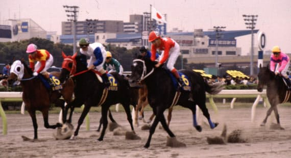 「全国競馬最前戦」が放送されていた1993年の交流重賞・帝王賞=地方競馬全国協会提供