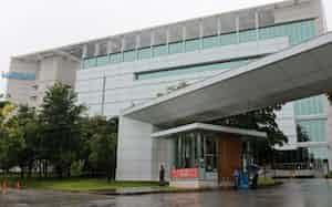 台湾・大立光電の本社兼工場(19年6月、台中市)