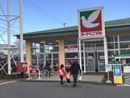 2月以降、食品の販売が大幅に増えている(福島県郡山市のヨークベニマルの店舗)