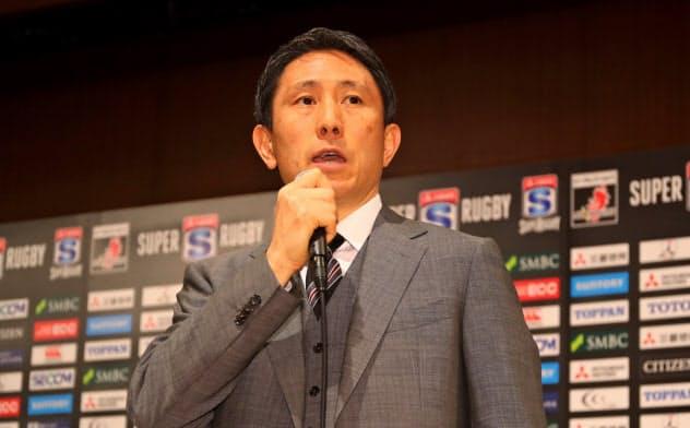 渡瀬氏は「スーパーラグビーの枠組みを考え直す動きはチャンス」と語る((C)JSRA 長岡洋幸氏撮影)