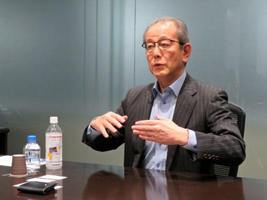 竹内康雄社長は医療事業に経営資源を集める方針を掲げている