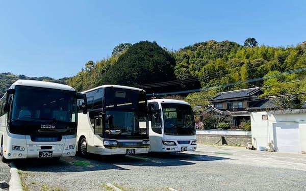那珂川観光はバス7台を持つがほとんど稼働していない(福岡県那珂川市)