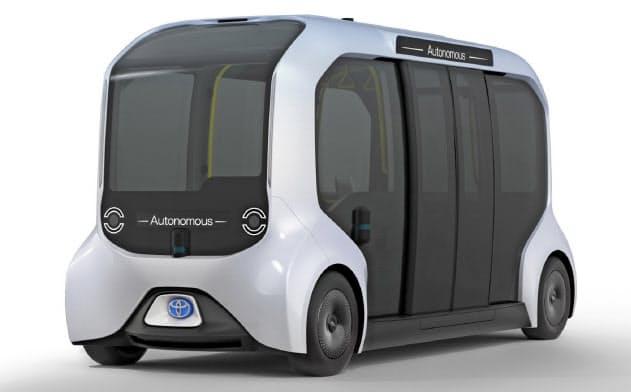 トヨタの東京五輪仕様の自動運転EV「イーパレット」