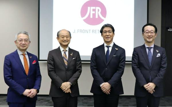 Jフロントの好本達也次期社長(左から2人目)