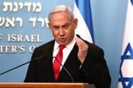 イスラエル政局でネタニヤフ首相の優位が強まっている=AP
