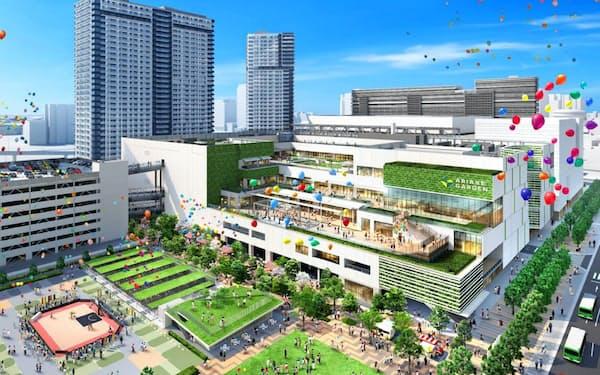開業が延期された住友不動産の有明ガーデン(開業前のイメージ)