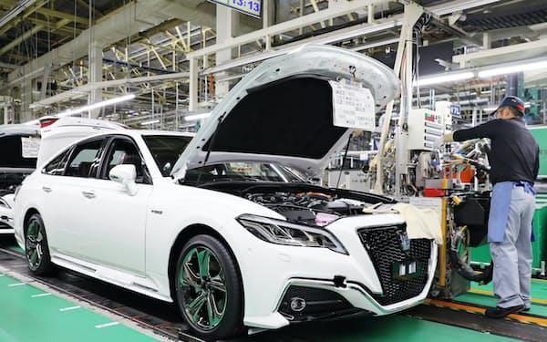 トヨタは国内でも一部工場の休止に踏み切った(愛知県豊田市)