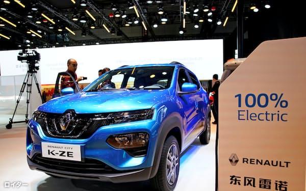 ルノーは中国市場で今後電気自動車(EV)などに注力する(中国で販売する「e諾」)=ロイター