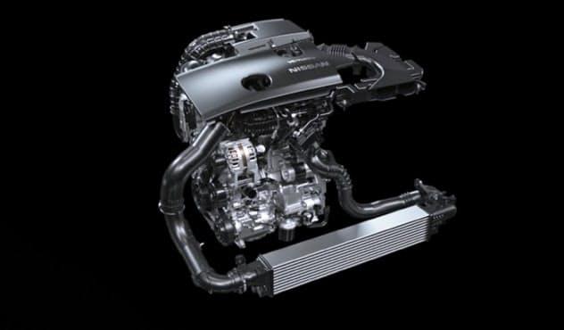 日産は中・大型エンジンの開発を得意とする(写真は可変圧縮比エンジン「VCターボ」)