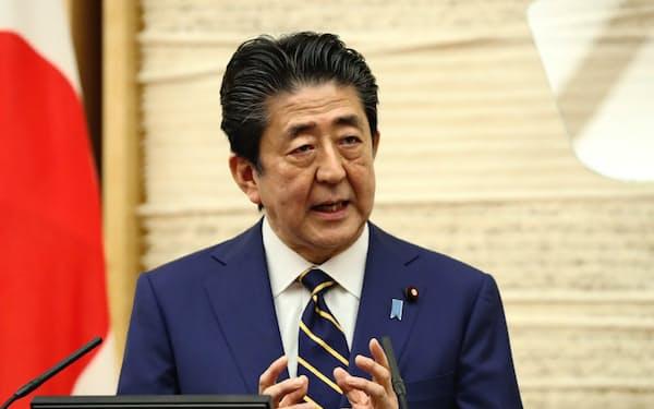 緊急事態宣言への協力を呼びかける安倍首相