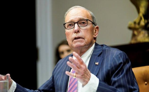 クドロー米国家経済会議委員長は、「戦時国債」の発行に「大賛成だ」と語ったが…=ロイター