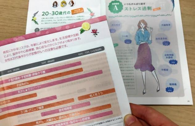 JALは女性特有の健康リスクを理解できるよう医師監修の冊子を発行している