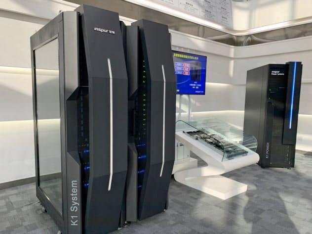 中国インスパーは高性能なAIサーバーに注力(山東省の同社ショールーム)