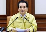 韓国の丁世均首相=聯合・共同