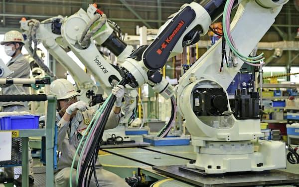 川崎重工業の産業用ロボット