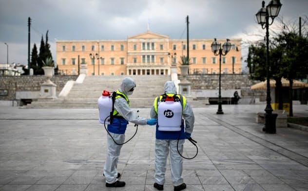 エコノミスト誌の調べではギリシャがロックダウンによる影響を最も受けやすいとされる=ロイター