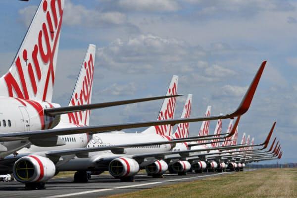 ヴァージン・オーストラリアは豪航空2位、国内では3割のシェアを持つ(ブリスベン)=AAP