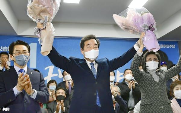 李前首相は総選挙で評価を高めた=ソウル(共同)