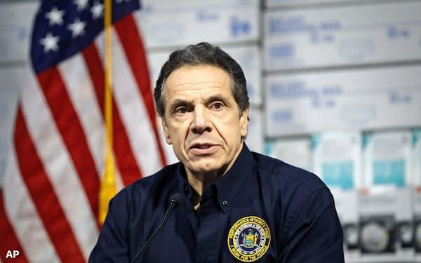 ニューヨーク州のクオモ知事(写真)は、「Build it back better(再建するなら、前よりよいものを)」という標語を使い始めた=AP