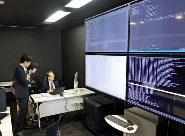 AI支援システムを使った医薬品候補の探索(東京・港のフロンテオ、同社提供)