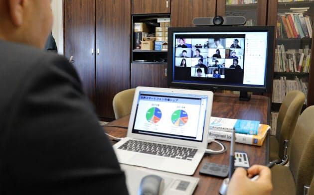 名古屋商科大はオンライン授業を実施している(愛知県日進市)