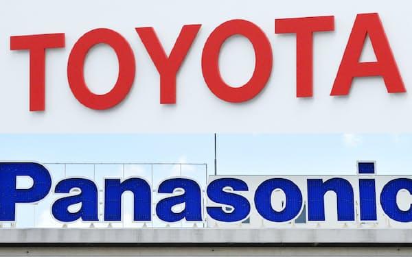 トヨタ自動車(写真上)とパナソニック