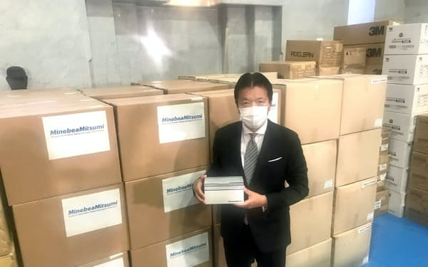 N95マスク7万枚などの医療物資を日本医師会に寄付した