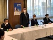 自民党は家賃支援策を検討するプロジェクトチームの初会合を開いた(30日、自民党本部)