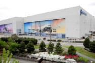 4月20日まで一時操業停止していたボーイングの工場(ワシントン州)=ロイター