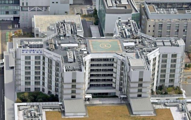 神戸市立医療センター中央市民病院(4月、神戸市)=共同