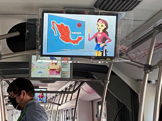 メキシコのバーチャルキャラクター、スサナ・ディスタンシアは市民に新型コロナの感染を防ぐ方法を知らせている