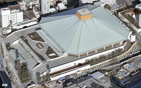 東京・両国国技館で予定されていた大相撲夏場所は中止が決まった=共同