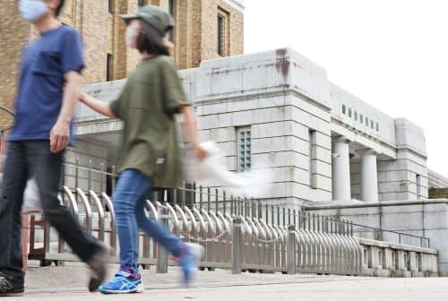 新型コロナウイルスの影響により閉鎖されている国立科学博物館(4日、東京都台東区)