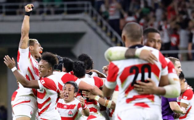 日本代表は過去2回のW杯で7勝をあげている(2019年W杯アイルランド戦)
