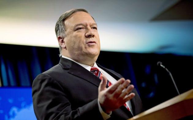 中国が個人攻撃を続けるポンペオ米国務長官(4月29日、ワシントンで)=AP