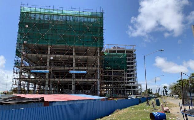 首都ジョージタウンで建設が進む、中国企業が手掛ける複合施設