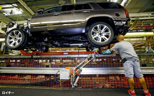 GMは米国とカナダの生産を18日に再開する(テキサス州の完成車工場)=ロイター