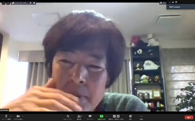 オンラインインタビューに応じる高田明氏